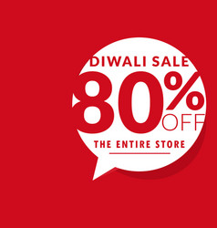 Clean diwali sale offer template with chat bubble vector
