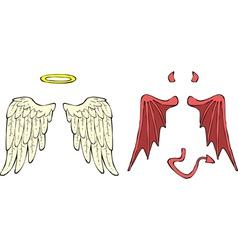 Cartoon wings vector image
