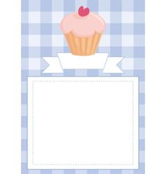 Blue restaurant menu card or baby shower list vector image