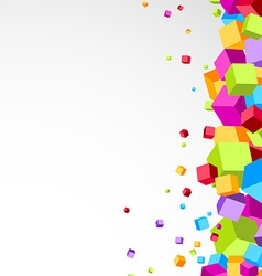 Colorful cubes aside - festive background vector