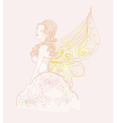Beautiful fairy graphic doodle vector