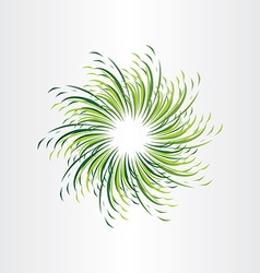 Green grass circle abstract background vector