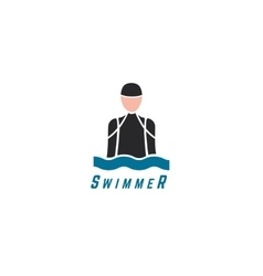 Abstract elements swim sport dive club vector