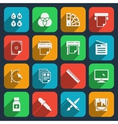 Publisher and printing house icons vector