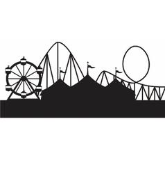 carnival scene vector image