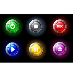 Buttons with video characters vector