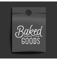 Slogan object packet baked goods vector