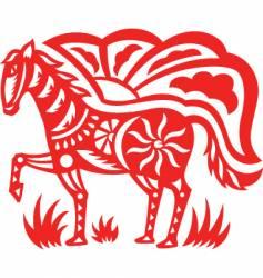 oriental horse vector image