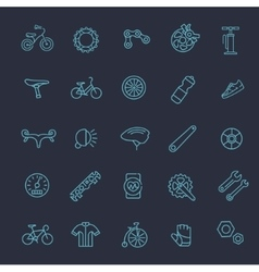 Bike tools and equipment part icon set vector