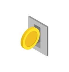 Parking fees icon isometric 3d style vector