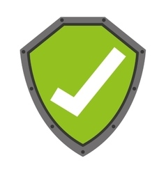 Security shield with check symbol isolated icon vector