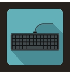 Black computer keyboard icon flat style vector image vector image