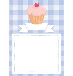Blue restaurant menu card or baby shower list vector image vector image