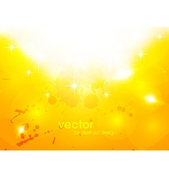 Bright yellow splash background vector