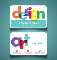 Business card for artist or designer vector image vector image