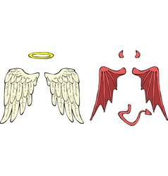 Cartoon wings vector