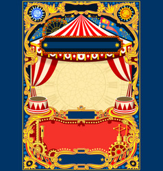 Circus editable frame vector