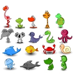 Cute Animal Icon Set vector image vector image