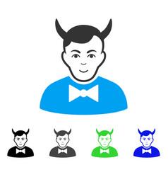 Glad devil icon vector
