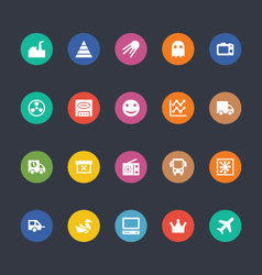 Glyphs Colored Icons 30 vector image vector image