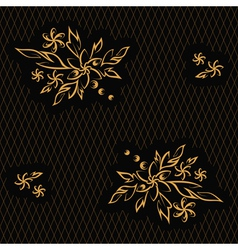 Golden flowers vector