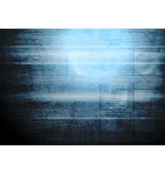 Grunge hi-tech backdrop vector image vector image