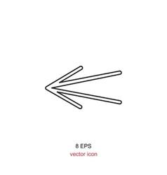 icon arrow vector image vector image