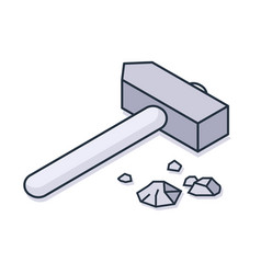 Large hammer icon vector
