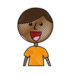 Little african boy character vector