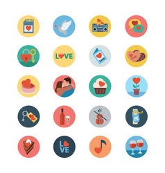 Love and romance flat colored icons 4 vector