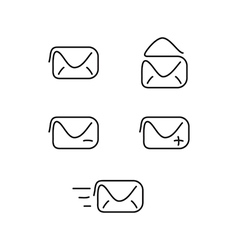 Mail set icons vector