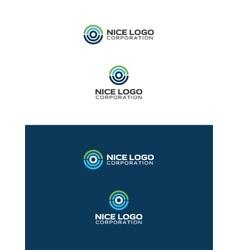 modern tomography logo vector image vector image