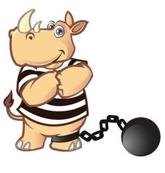 Prisoner Rhino vector image vector image
