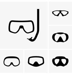 Scuba masks vector