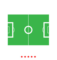 soccer field it is icon vector image