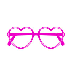 sun glasses frame in shape of heart without lenses vector image