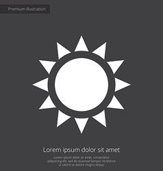 Sun premium icon white on dark background vector