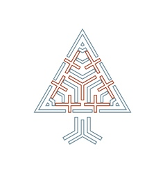 tree symbol with crosses vector image