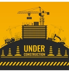 Under Construction Silhouettes Design vector image vector image