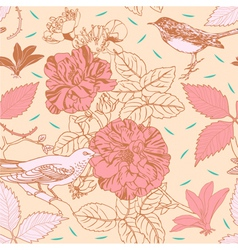 Vintage Floral Pattern Background vector image vector image