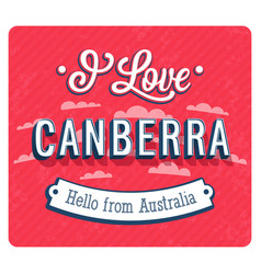vintage greeting card from canberra vector image