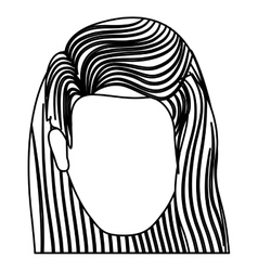 Isolated woman head design vector