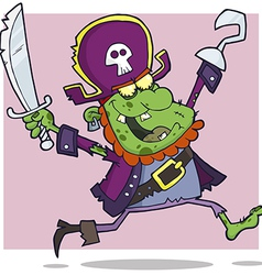 Pirate zombie cartoon character vector