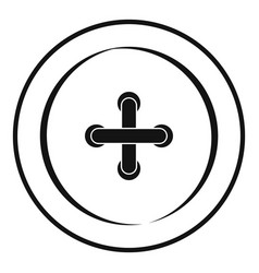 sewing button icon simple style vector image