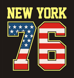 Athletic new york 76 tshirt graphic vector