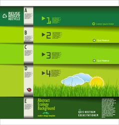 Modern green ecology design template horizontal vector
