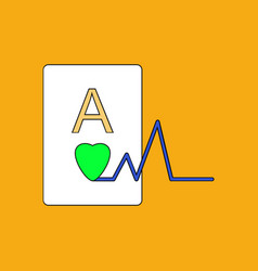 flat icon design collection ace of hearts vector image