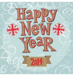 New year greeting card concept vector image