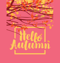 Autumn banner with branches and autumn leaves vector