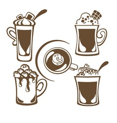 Hot drinks vector